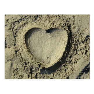 Heart In The Sand Postcard