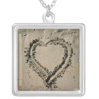 Heart In The Sand Sterling Photo Pendant Necklace necklace