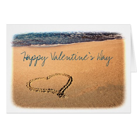 Heart in the Sand Valentine's Day Card