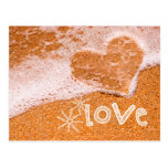 Heart in the Sand. Valentine's Day Postcards