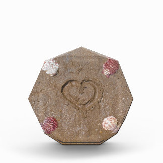 heart in the sand with shells award
