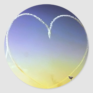 Heart in the Sky Classic Round Sticker