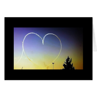 Heart in the Sky Greeting Card