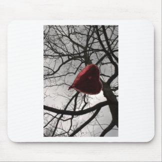 heart in the trees in the sky heart balloon mouse pad