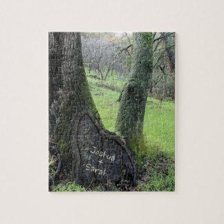 Heart in Tree Custom Lovers Puzzle