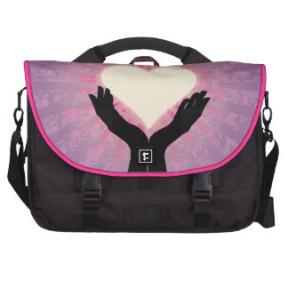 Heart in Your Hands Glowing Bags For Laptop