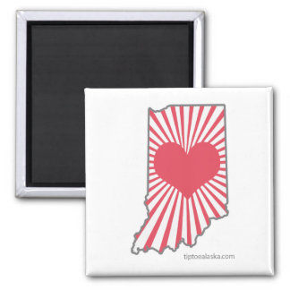 Heart Indiana Candy Color Magnet