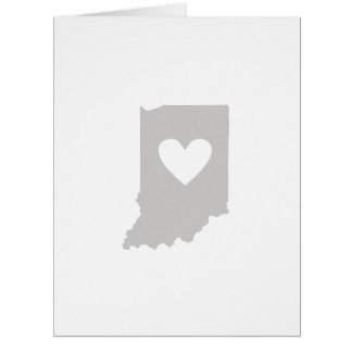 Heart Indiana state silhouette Large Greeting Card