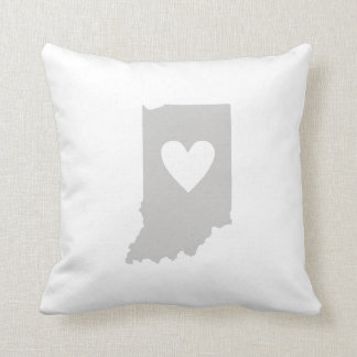 Heart Indiana state silhouette Pillows