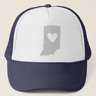 Heart Indiana state silhouette Trucker Hat