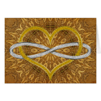 Heart Infinity Gold Silver Greeting Cards