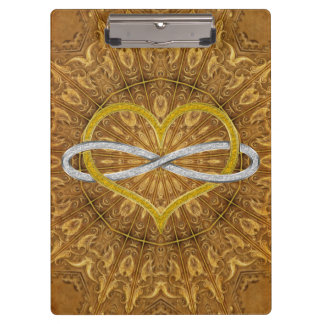 Heart Infinity Gold Silver Clipboards