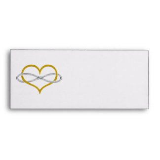 Heart Infinity Gold Silver Envelope