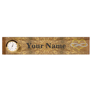 Heart Infinity Gold Silver Nameplate