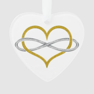 Heart Infinity Gold Silver Ornament
