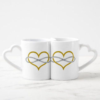 Heart Infinity Gold Silver Lovers Mug