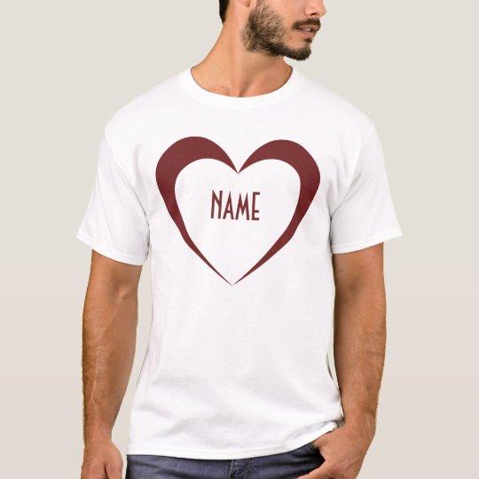 Heart Insert Name T-Shirt