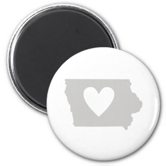 Heart Iowa state silhouette 2 Inch Round Magnet