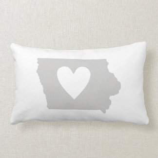 Heart Iowa state silhouette Lumbar Pillow