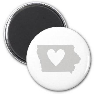 Heart Iowa state silhouette Refrigerator Magnet