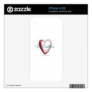 heart iPhone 4S decals