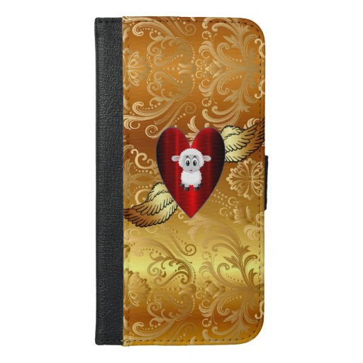 heart iPhone 6/6s plus wallet case