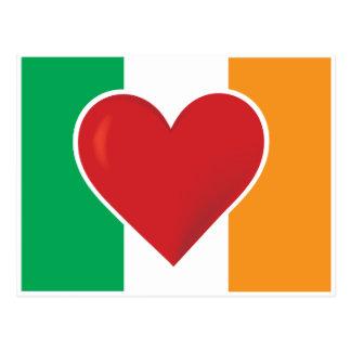 Heart Irish Flag Postcard