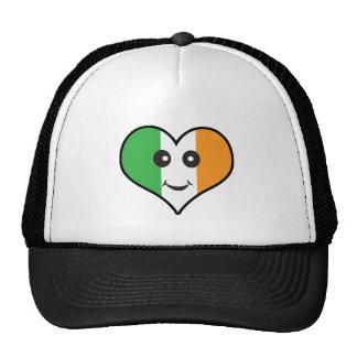 heart irish smiley trucker hat
