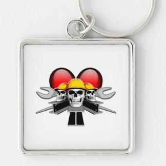 Heart Ironworkers Keychain