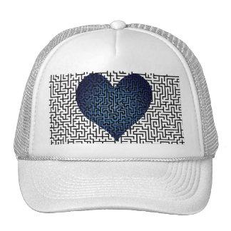 Heart is a Maze Blue Cap Trucker Hat
