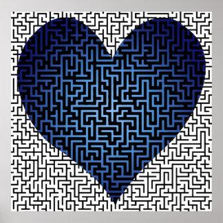 Heart is a Maze Blue Print