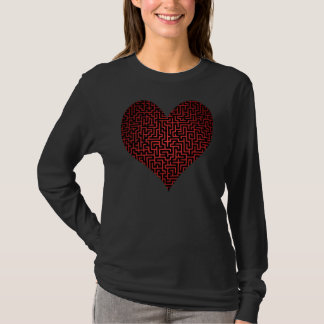 Heart is a Maze One Sided Shirt