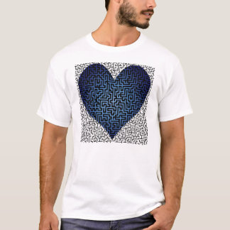 Heart is a Maze Two Sided Maze Shirt Blue