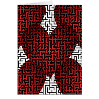 Heart is a Maze Valentine's Card