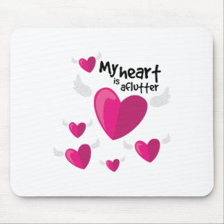 Heart is Aflutter Mouse Pad