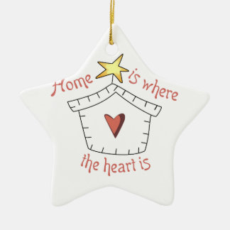 Heart Is Applique Ceramic Ornament