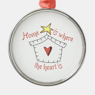 Heart Is Applique Metal Ornament
