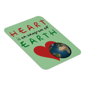 Heart is Earth anagram Magnet