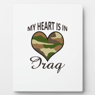 HEART IS IN IRAQ PHOTO PLAQUES