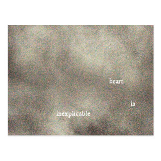 heart is inexplicable postcard