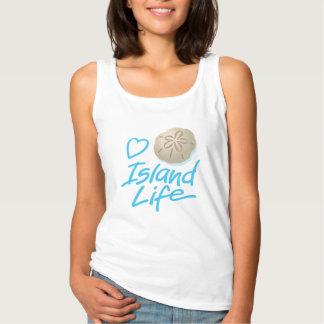 Heart Island Life Women's Tank Top w Sand Dollar