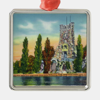 Heart Island View of Alster Tower Metal Ornament