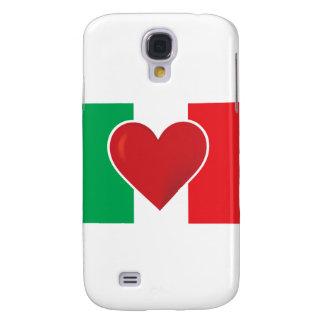 Heart Italy Flag Galaxy S4 Cover