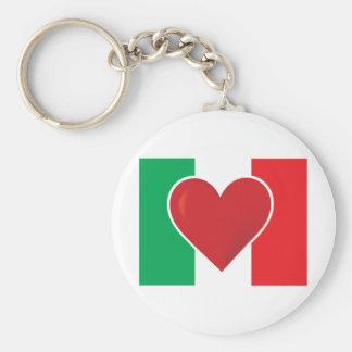 Heart Italy Flag Keychain