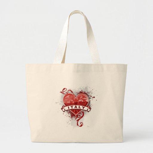 Heart Italy Jumbo Tote Bag