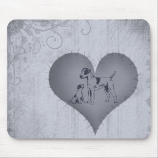Heart Jack Russel Mouse Pad