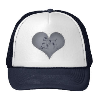 Heart Jack Russel Trucker Hat