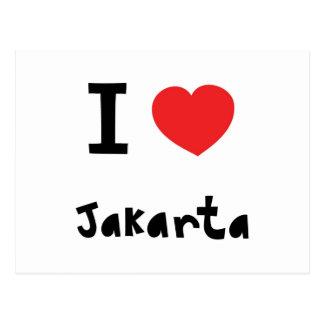 Heart Jakarta Post Card