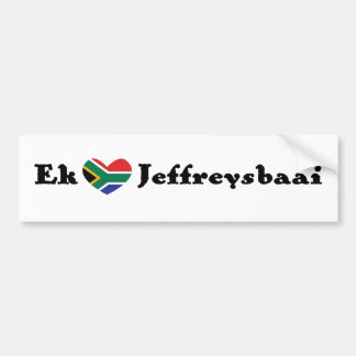 *Heart* Jeffreysbaai (la bahía de Ek de Jeffrey de Pegatina Para Auto