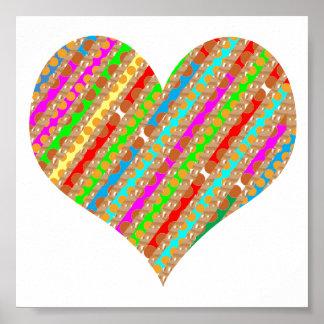 HEART Jewel Gem Colorful ART : DISPLAY ENJOY Poster